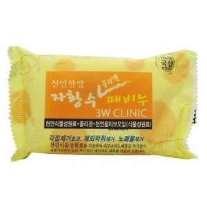 Мыло с морским коллагеном 3W Clinic Collagen Dirt Soap