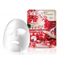 Маска для лица тканевая с экстрактом граната 3W Clinic Fresh Pomegranate Mask Sheet