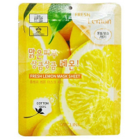 Тканевая маска для лица с экстрактом лимона 3W Clinic Fresh Lemon Mask Sheet