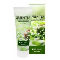 Увлажняющий гель-пилинг с экстрактом зеленого чая 3W Clinic Green Tea Moisture Peeling Gel