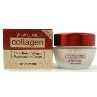 Регенерирующий крем для лица с коллагеном 3W Clinic Collagen Regeneration Cream