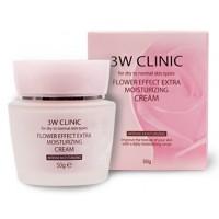Крем увлажняющий цветочный 3W Clinic Flower Effect Extra Moisture Cream