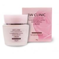 Увлажняющий крем c цветочными экстрактами 3W Clinic Flower Effect Extra Moisturizing Cream