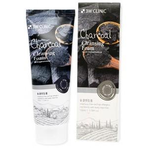 Пенка для умывания с углем 3W Clinic Charcoal Cleansing Foam