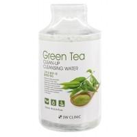 Очищающая вода с экстрактом зеленого чая 3W Clinic Green Tea Clean-Up Cleansing Water