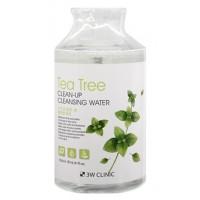 Очищающая вода для снятия макияжа с экстрактом чайного дерева 3W Clinic Tea Tree Clean-Up Cleansing Water