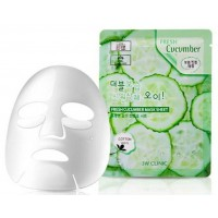 Тканевая маска для лица с экстрактом огурца 3W Clinic Fresh Cucumber Mask Sheet