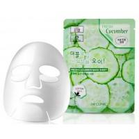 Тканевая маска для лица с экстрактом огурца 3W Clinic Fresh Cucumber Mask Sheet