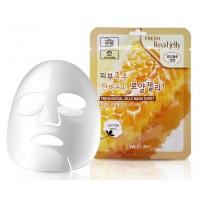 Тканевая маска с маточным молочком 3W Clinic Fresh Royal Jelly Mask Sheet
