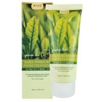 Увлажняющая пенка для умывания с экстрактом зеленого чая Anjo Professional Moisture Foam Cleansing Green Tea