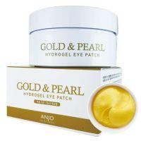 Патчи для глаз с 24К золотом и жемчугом Anjo Professional Eye Patch Gold Pearl