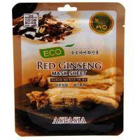 Маска тканевая с экстрактом красного женьшеня Aspasia Eco Red Ginseng Sheet Pack