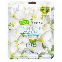 Маска для лица «Белые цветы» Aspasia Eco White Sheet Pack
