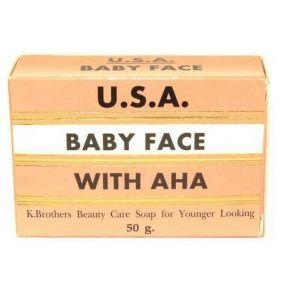 Мыло для лица с АHA кислотами K. Brothers Baby Face Soap With AHA