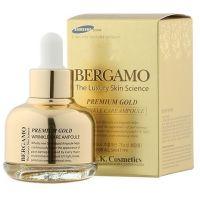 Сыворотка омолаживающая ампульная с золотом Bergamo Premium Gold Wrinkle Care Ampoule