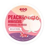 Патчи с экстрактом персика и гибискуса Dearboo Brightening Hydrogel Eye Patch Peach Hibiscus