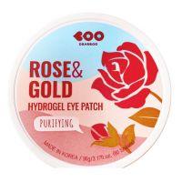Гидрогелевые патчи с экстрактом розы и золотом Dearboo Purifying Hydrogel Eye Patch Rose Gold