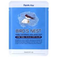 Маска для лица тканевая с экстрактом ласточкиного гнезда FarmStay Visible Difference Bird's Nest Aqua Mask Pack