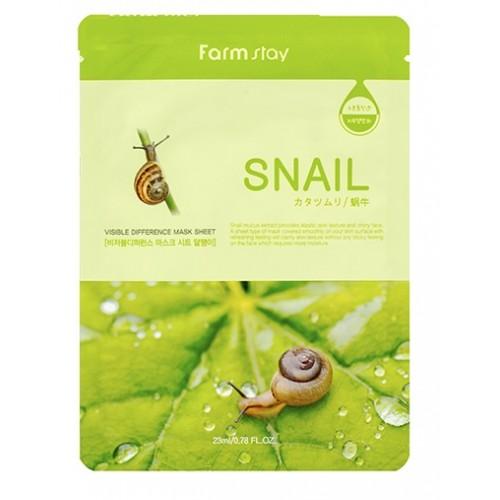 Маска тканевая с муцином улитки FarmStay Mask Sheet Snail