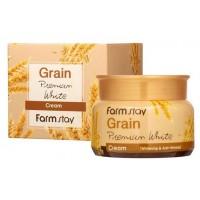 Крем для лица осветляющий с экстрактом злаков Farmstay Grain Premium White Cream
