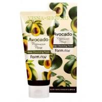 Очищающая пенка с экстрактом авокадо FarmStay Avocado Premium Pore Deep Cleansing Foam