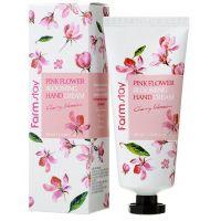 Крем для рук Цветение вишни  FarmStay Pink Flower Blooming Hand Cream Cherry Blossom