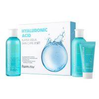 Набор для лица с гиалуроновой кислотой Farm Stay Hyaluronic Acid Super Aqua Skin Care 3 Set