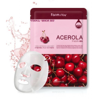 Маска с экстрактом ацеролы FarmStay Visible Difference Mask Sheet Acerola