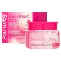 Балансирующий гиалуроновый крем для лица Farmstay Premium Hyalluronic Acid Balancing Cream