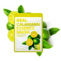 Маска для лица тканевая Лайм мускусный FarmStay Real Essence Mask Calamansi