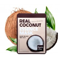 Маска для лица тканевая Кокос FarmStay Real Essence Mask Coconut