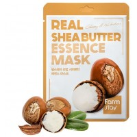 Маска для лица тканевая Масло Ши FarmStay Real Essence Mask Shea Butter