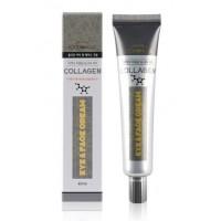 Крем для кожи вокруг глаз и лица с коллагеном FoodaHolic Collagen Eye Face Cream