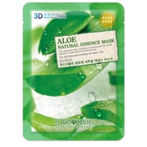 Тканевая маска для лица с экстрактом алоэ Foodaholic Natural Essence Mask Aloe