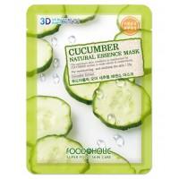 Тканевая маска с экстрактом огурца Foodaholic Natural Essence Mask Cucumber