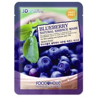 Маска тканевая с экстрактом голубики Foodaholic Natural Essence Mask Blueberry