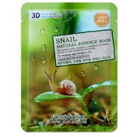 Тканевая маска для лица с муцином улитки Foodaholic Natural Essence Mask Snail