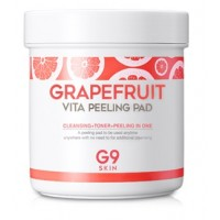 Диски-пилинги для очищения кожи с экстрактом грейпфрута G9 Skin Grapefruit Vita Peeling Pad
