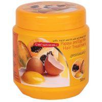 Маска для волос с воском Папайя и Яичный желток Carebeau Hair Treatment Papaya and Egg Yolk Wax