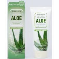 Маска - плёнка для лица на основе экстракта алоэ Jigott Aloe Pure Clean Peel Off Pack
