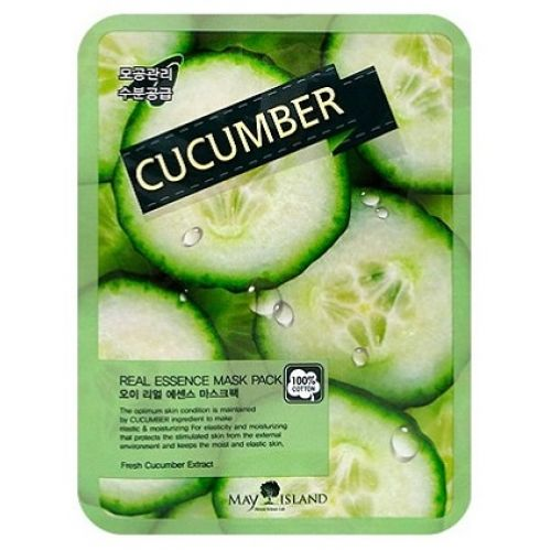 Маска тканевая с экстрактом огурца May Island Real Essence Mask Pack Cucumber