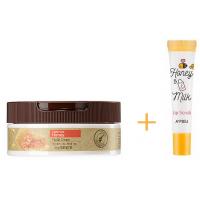 Крем для лица медовый + Скраб для губ с экстрактом меда и молочными протеинами
