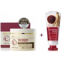 Крем для молодости кожи + Пенка для умывания с экстрактом красного женьшеня