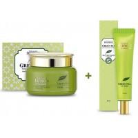 Крем для лица Total Solution + Крем вокруг глаз с экстрактом зеленого чая Total Solution