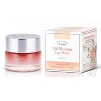Маска для губ с маслом камелии ночная Petitfee Oil Blossom Lip mask Camellia Seed Oil