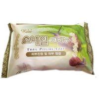 Oчищающее мыло-пилинг с муцином улитки парфюмированное Rose Snail Perfumed Peeling Soap