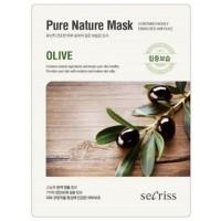 Маска для лица тканевая с оливой Anskin Secriss Pure Nature Mask Pack Olive