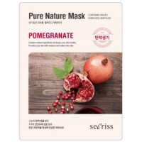 Маска для лица тканевая с экстрактом граната Anskin Secriss Pure Nature Mask Pack Pomeganate