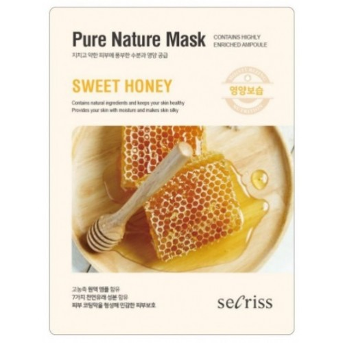 Маска для лица тканевая с экстрактом меда Anskin Secriss Pure Nature Mask Pack Sweet Honey