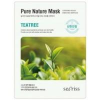 Маска для лица тканевая с экстрактом чайного дерева Anskin Secriss Pure Nature Mask Pack Teatree